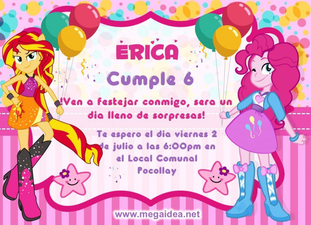 invitacion EQUESTRIA GIRL