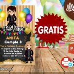 Invitación de Harry Potter para Editar GRATIS