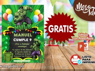 invitacion Hulk MUESTRA