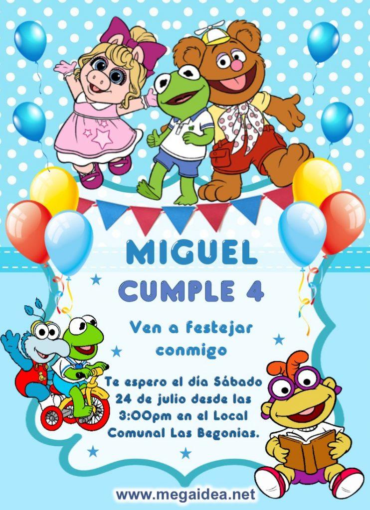 invitacion Muppets Baby