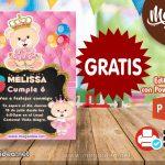 Invitación de Osita Princesa GRATIS para Editar