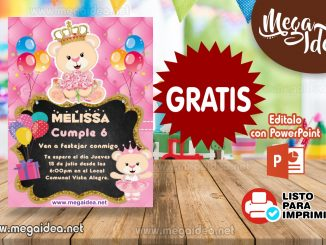 invitacion Osita Princesa muestra