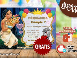 invitacion Pocahontas MUESTRA