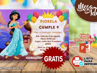 invitacion Princesa Jazmin mustra