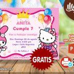 Invitación de Hello Kitty para Editar GRATIS