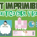 Kit Imprimible para Bautizo Niña y Niño