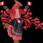 mujer peruana traje tipico