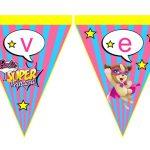 Banderines Barbie Super Princesa 11