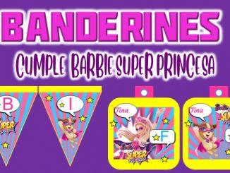 Banderines Barbie Super Princesa muestra