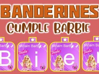 Banderines cumple Barbie muestra