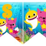 Banderines cumple baby shark 07