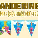 Banderines de Baby Shark Modelo 2 para Cumpleaños