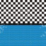 Fondo azul negro cuadro stars