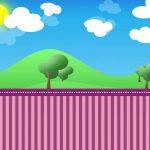 Fondo paisaje3 lila infantil