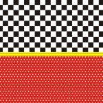 Fondo rojo negro amarillo carreras