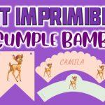 Kit Imprimible de Bambi para Cumpleaños
