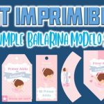 Kit Imprimible de Bailarina Modelo 2 para Cumpleaños