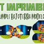 Kit Imprimible de Bajoterra Modelo 2 para Cumpleaños