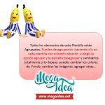 Kit Imprimible cumple Bananas en Pijamas 01