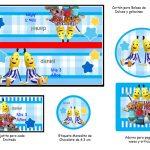 Kit Imprimible cumple Bananas en Pijamas 03