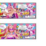 Kit Imprimible cumple Barbie Super Princesa 01