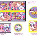 Kit Imprimible cumple Barbie Super Princesa 03