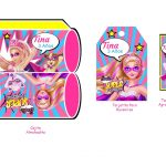 Kit Imprimible cumple Barbie Super Princesa 05