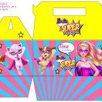 Kit Imprimible cumple Barbie Super Princesa 10