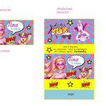 Kit Imprimible cumple Barbie Super Princesa 18