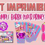 Kit Imprimible de Barbie Super Princesa para Cumpleaños