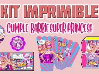 Kit Imprimible cumple Barbie Super Princesa muestra