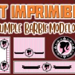Kit Imprimible de Barbie Modelo 2 para Cumpleaños