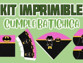 Kit Imprimible cumple Batichica MUESTRA