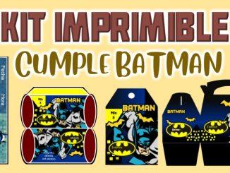 Kit Imprimible cumple Batman MUESTRA