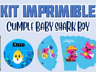 Kit Imprimible cumple baby shark MUESTRA