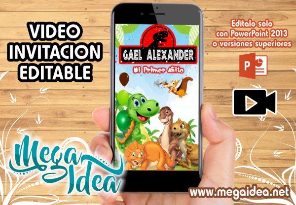 VIDEO Invitacion Baby Dinosaurios