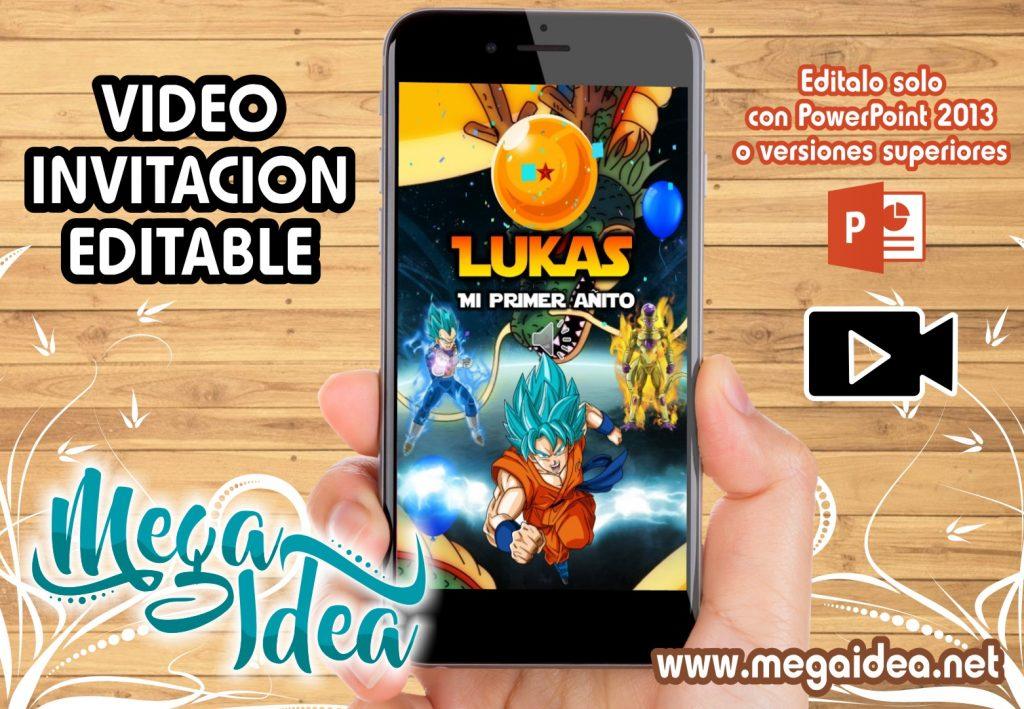 VIDEO Invitacion Dragon Ball Z