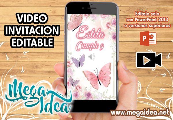 VIDEO Invitacion Flores Mariposas