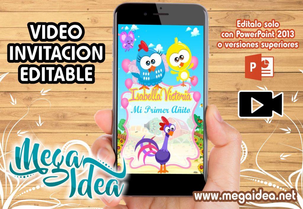 VIDEO Invitacion Gallina Pintadita Mini