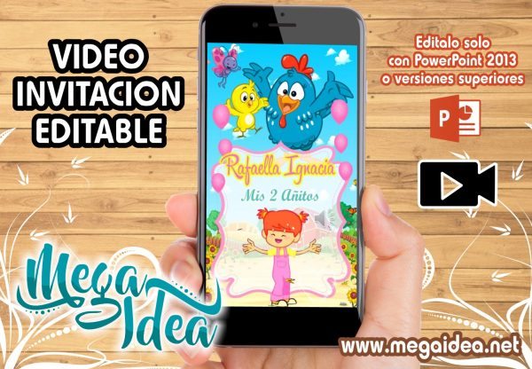 VIDEO Invitacion Gallinita Pintadita