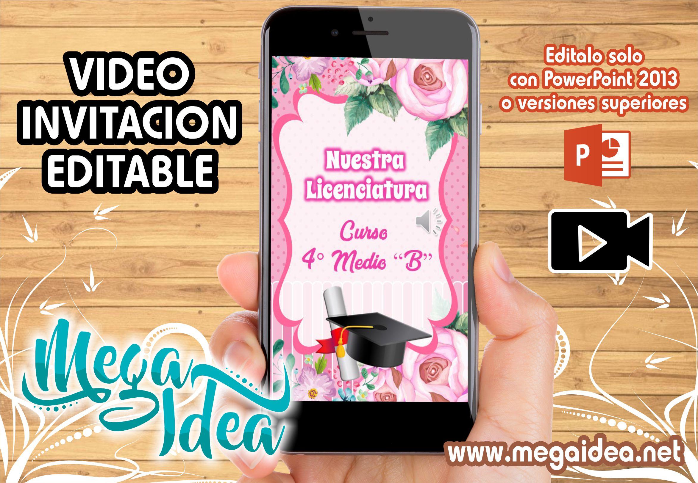 VIDEO Invitacion Licenciatura Rosado