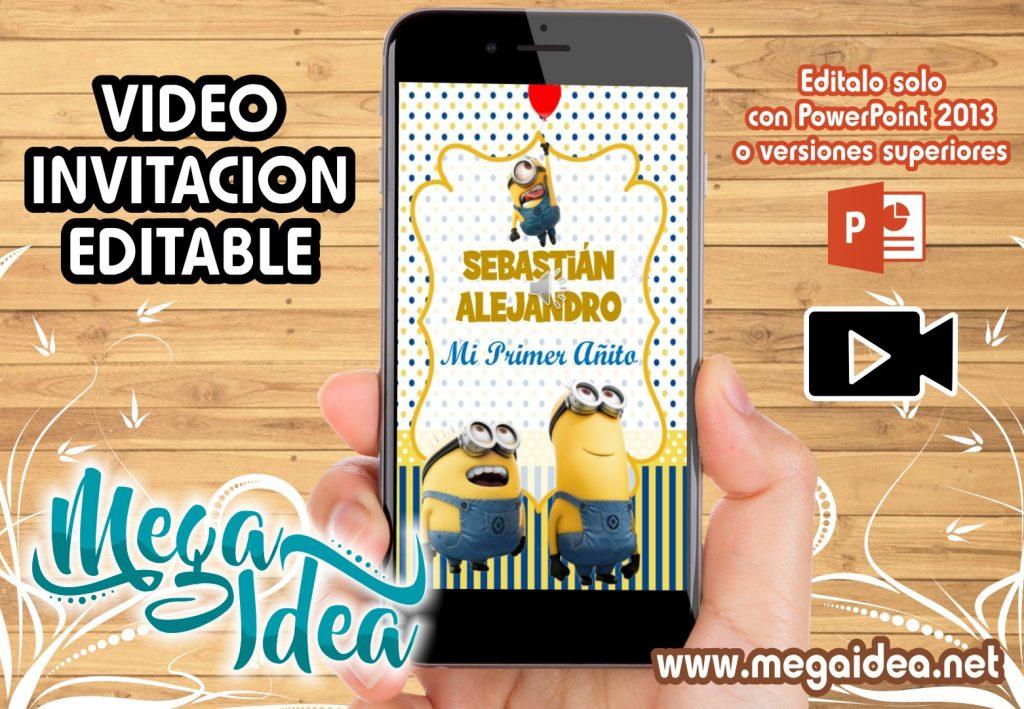 VIDEO Invitacion Los Minions