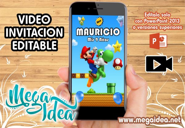 VIDEO Invitacion Mario Bros