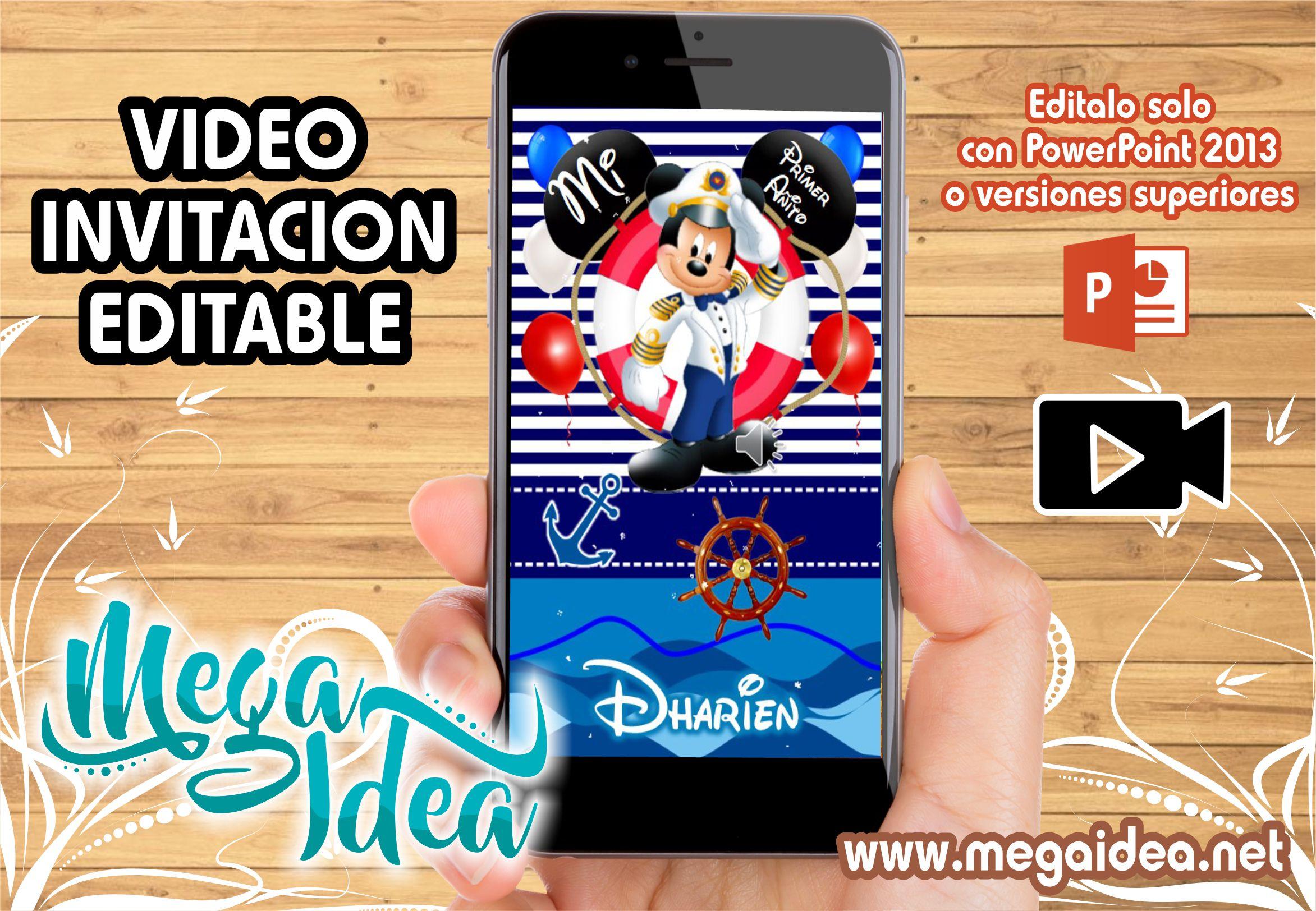 VIDEO Invitacion Mickey Marinero 1