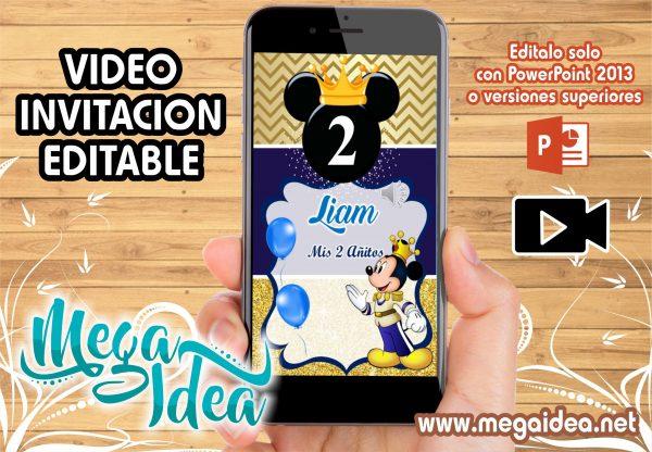 VIDEO Invitacion Mickey Rey