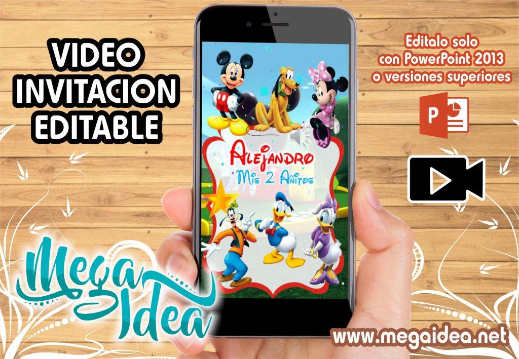VIDEO Invitacion Mickey y sus Amigos 1