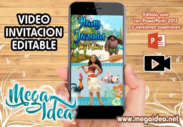 VIDEO Invitacion Moana