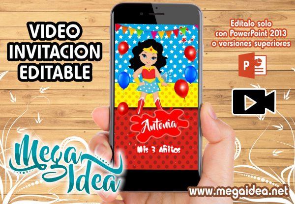 VIDEO Invitacion Mujer Maravilla