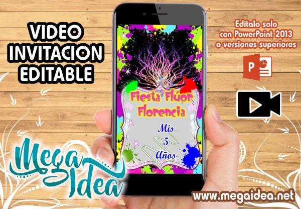 VIDEO Invitacion Neon Fluor girl