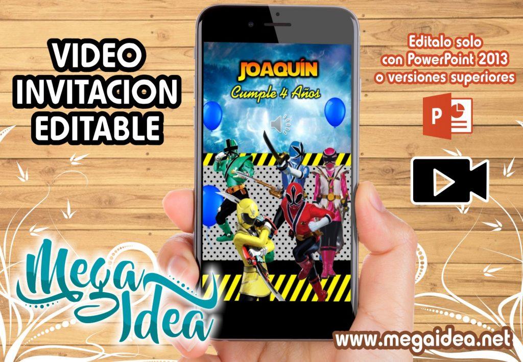 VIDEO Invitacion Power Rangers